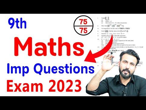 Math 9th Class Guess Paper 2021