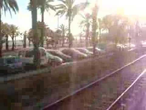 Train view to Mataro Station (Barcelona)