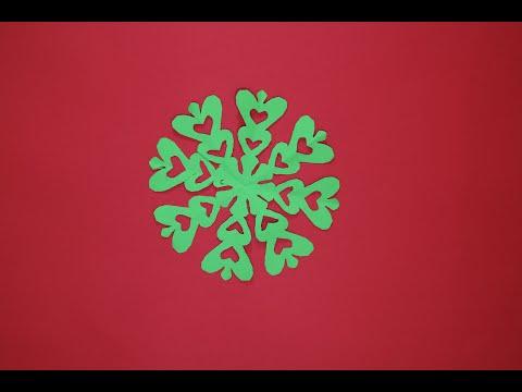 Easy paper cutting design/Diy paper snowflake
