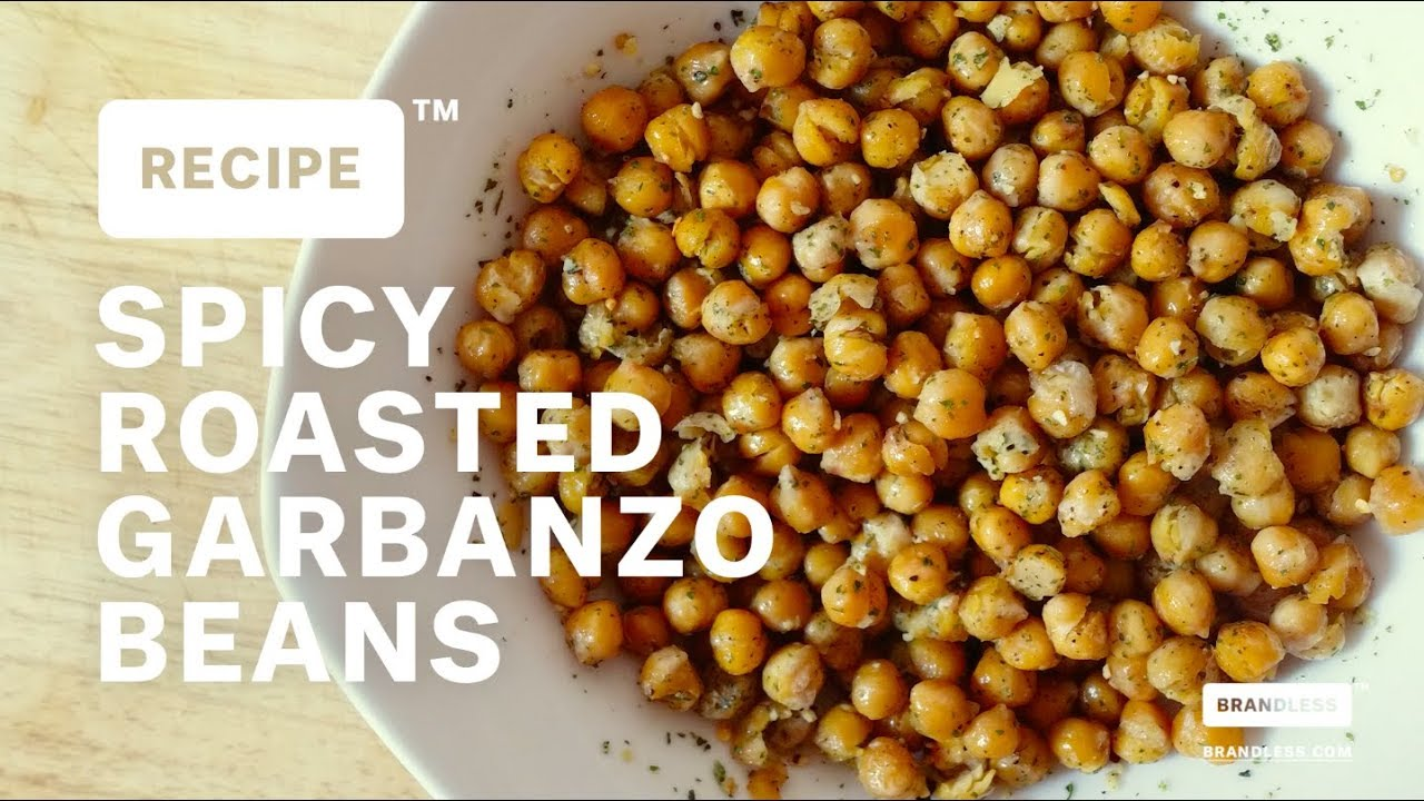 Brandless Recipe: Spicy Roasted Garbanzo Beans