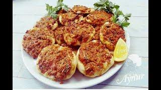 Kendisi Küçük Lezzeti Büyük I Evde Fındık Lahmacun Yapımı I Türkische Pizza in mini
