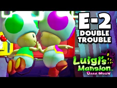 Luigi's Mansion Dark Moon - Treacherous Mansion - E-2 Double Trouble (Nintendo 3DS Walkthrough)