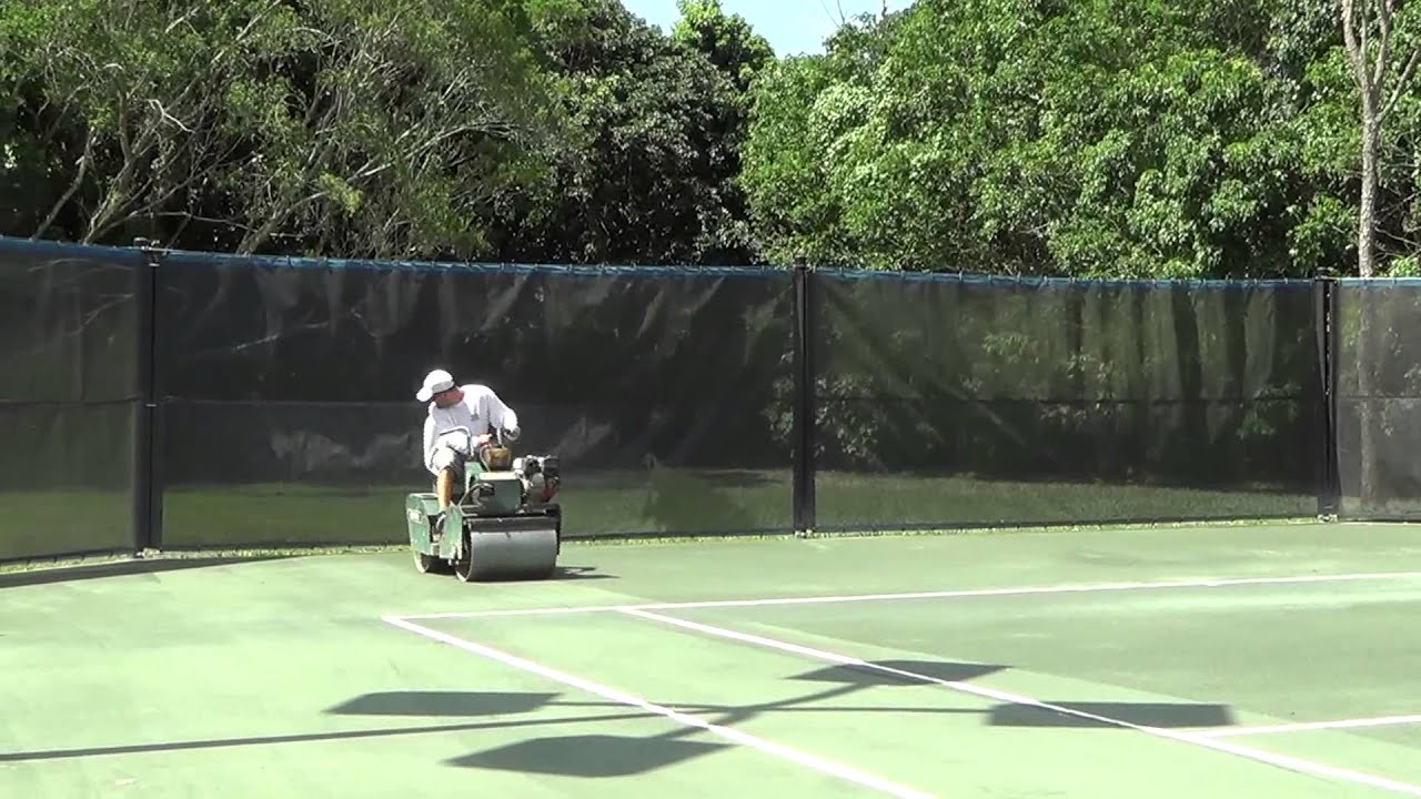Proper Rolling Procedures For Har Tru Clay Courts Youtube