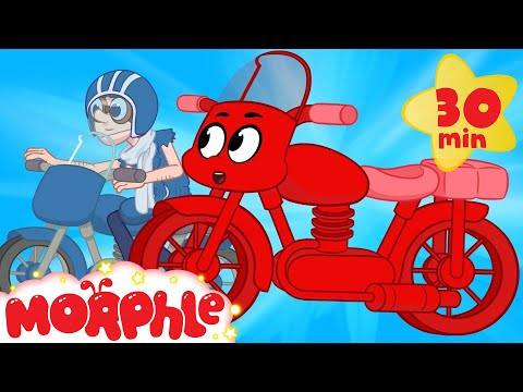 Thumbnail: My Red Motorbike's Big Chase - My Magic Pet Morphle Motorbike and Vehicle Videos For Kids