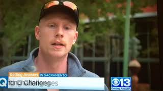 Owen Saunders, Police Recruit, CBS TV Interview