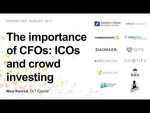 CFO for startups: ICOs and traditional crowdinvesting (Nico Konrad, DLT Capital)