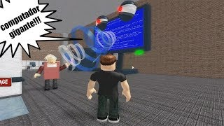 ROBLOX: FLEEING THE CRAZY LIBRARY WITH GIANT MONSTER COMPUTER!!! (Escape The Obby Library!)