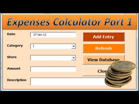 vba excel budget expenses calculator vba excel project part 1