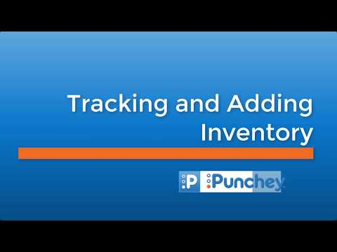 Tracking and Adding Inventory