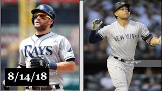 Tampa Bay Rays vs New York Yankees Highlights || August 14, 2018