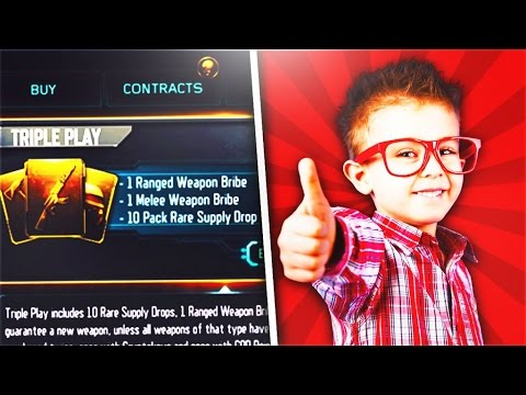 HIS FIRST EVER DLC WEAPON.. UNLOCKING TRIPLE PLAY BUNDLE FOR A FAN! (BO3)