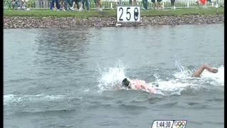 Maarten van der Weijden 10 km Marathon Swimming Olympische Spelen Beijing 2008 2