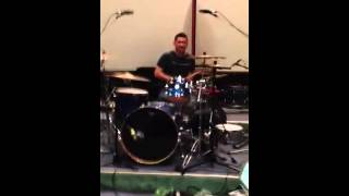 Dan Balan on drums