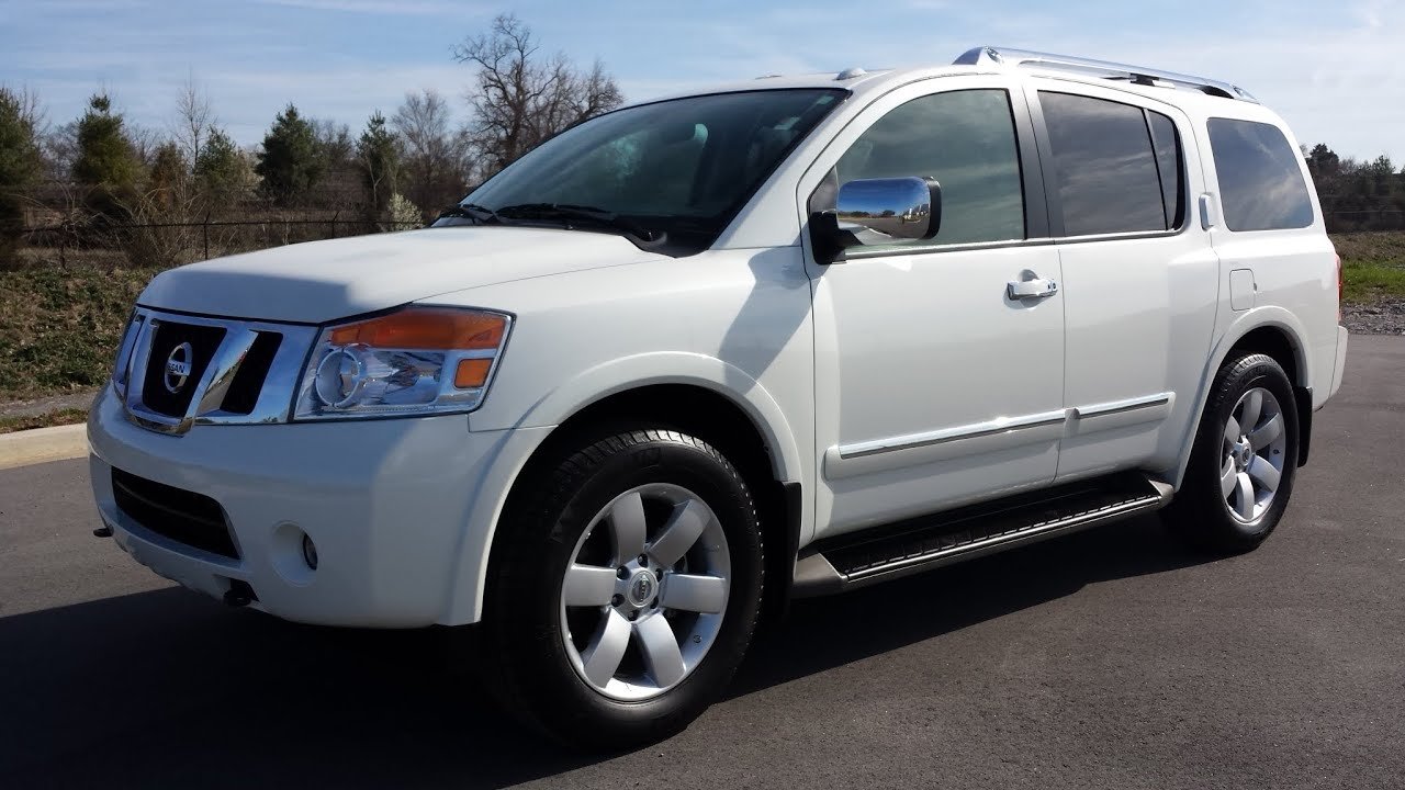 Sold 2013 Nissan Armada Sl Trim 4x2 Pearl White 12k For