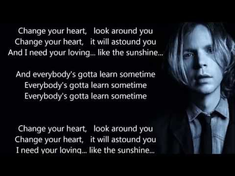 "Beck - Everybody's Gotta Learn Sometimes - HQ - Scroll Lyrics - ""22"""
