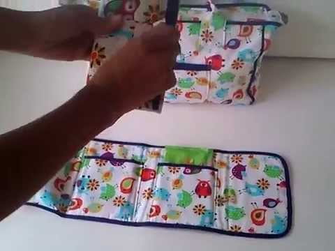 Bolso organizador pa ales toallitas y cambiador youtube - Como hacer un cambiador para bebes ...