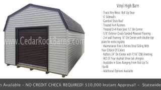 Vinyl High Barn Portable Storage Building