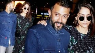 Sonam Kapoor Cant STOP Blushing Around Hubby Anand Ahuja After Returning From Holiday