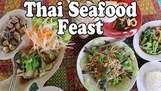 Thai Food Feast: Sea Snails, Raw Prawns & Fish at a Thai Resta…