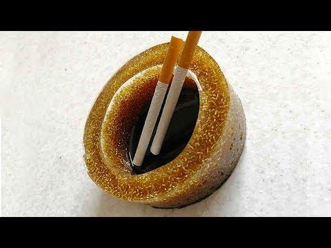 How to make a shiny ashtray with epoxy. Art epoxy resin