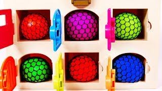 Learn Colors with Squishy Balls for Children and Kids