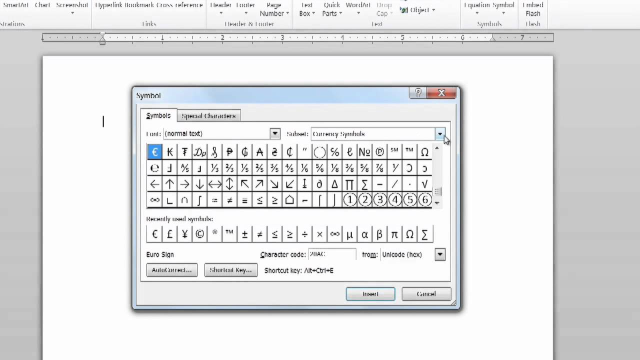 How To Insert The Peso Sign In Microsoft Word 2007 Using Ms Word