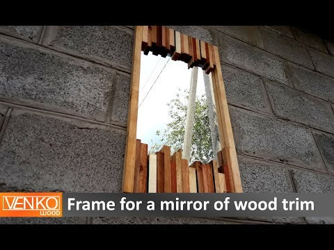 Frame for a mirror of wood trim