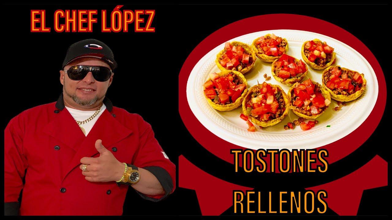 TOSTONES RELLENOS CON CARNE DE RES - RECETA HECHA CON CALIDAD DESDE CASA CON EL CHEF LOPEZ...