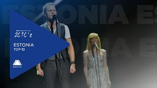 Best Songs of the 2010's: Entries from Estonia - Top 10