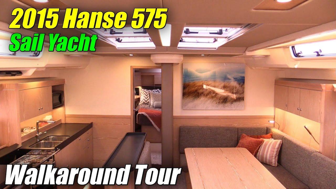 2015 Hanse 575 Sailing Yacht   Deck And Interior Walkaround   2015  Annapolis Sail Boat Show   YouTube
