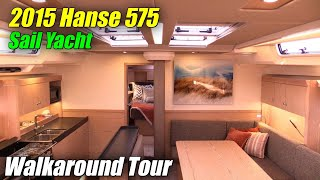 2015 Hanse 575 Sailing Yacht - Deck and Interior Walkaround - 2015 Annapolis Sail Boat Show