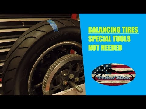Motorcycle Tire Balancing Without Special Tools | Techn' Moto