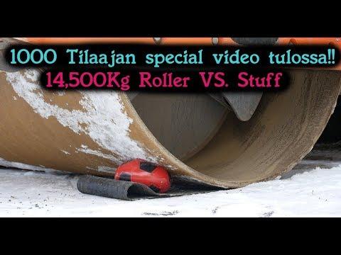 14,500 Kg Compactor (Roller) vs. stuff. (PREVIEW)