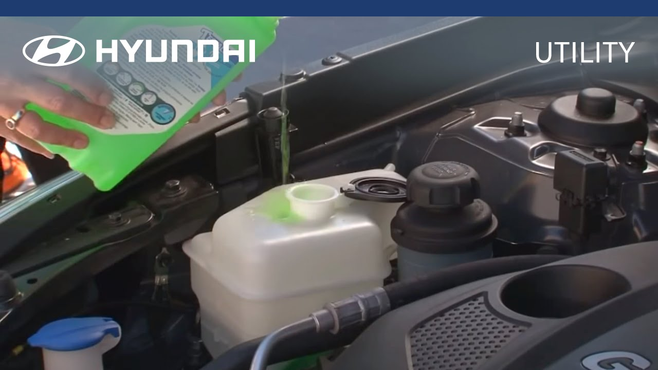 hyundai myhyundai how to check and fill coolant [ 1280 x 720 Pixel ]