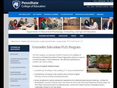 PHD on Counseling Education