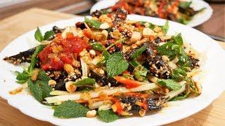 GỎI ĐU ĐỦ - Cách làm Khô Bò đen và Gỏi Đu đủ Gan Bò cháy - Món ăn vặt by Vanh Khuyen