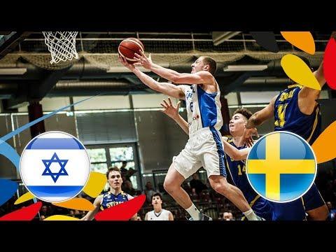 Israel v Sweden - Full Game - Round of 16 - FIBA U20 European Championship 2018