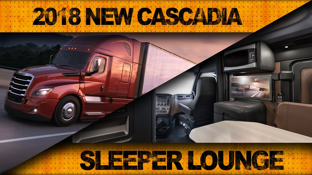 Check Out the 2018 New Cascadia's Sleeper Lounge