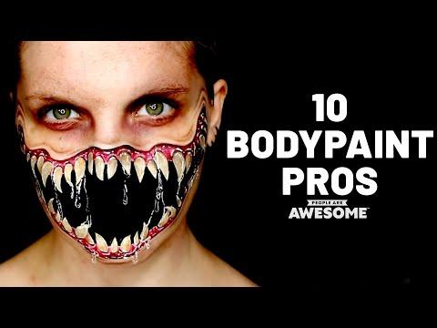 10 Amazing Bodypainting Artists | Timelapse Tutorials