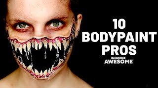 10 Amazing Bodypainting Artists | Timelapse Tutorials