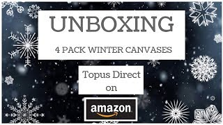 UNBOXING - Winter Themed 4pk DPs from Topus Direct on Amazon