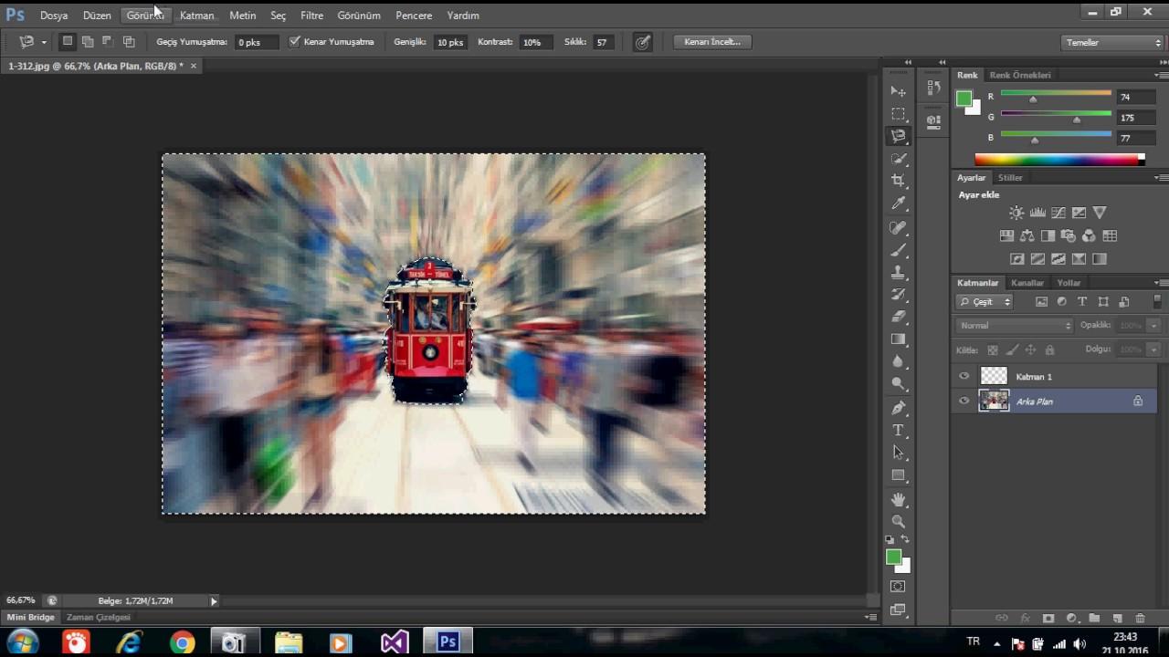 Adobe Photoshop(Belirli bir Objeyi ön plana çıkarma)