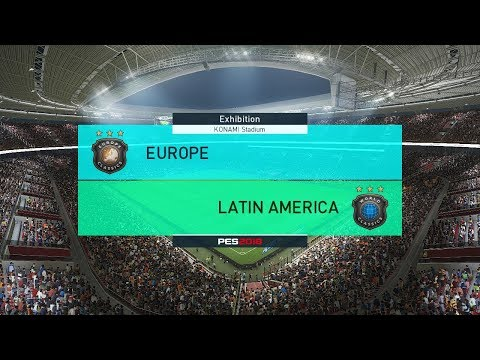 Europe All Star vs Latin America All Star - PES 2018 Gameplay