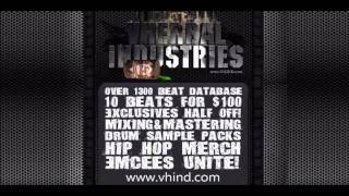 HIP-HOP INSTRUMENTALS SAMPLER FROM www.vhind.com (80 BEATS 50 MIN LONG!)