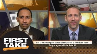 First Take reacts to Giancarlo Stanton trade to Yankees | First Take | ESPN