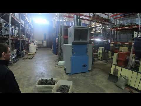 Дробилка PZO-800 DLU для резины (корд обрезиненный текстильный) - видео 1
