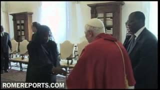 Pope welcomes Ivory Coast president, Alassane Ouattara