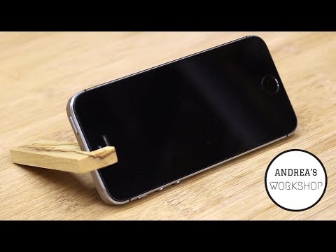 Easiest Wooden Phone Stand - Ep 066