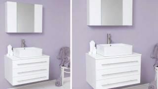 Fresca Modello White Modern Bathroom Vanity W/ Ceramic Sink & Medicine Cabinet - Fvn6183wh