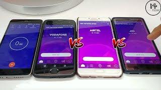 Airtel VS Jio VS Vodafone - Mobile Network Speed Test #kaunhaibehtar?